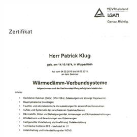 Klug TÜV Zertifikat